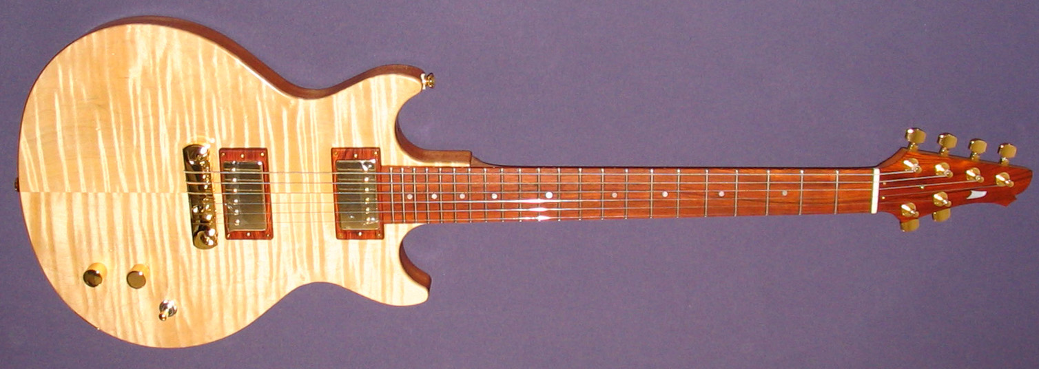 flame maple double cutaway guitar by kb. Black Bedroom Furniture Sets. Home Design Ideas