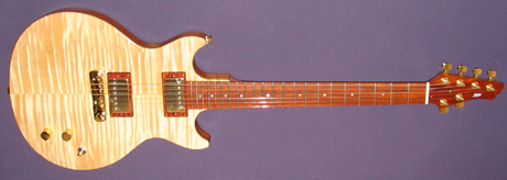 Double Cutaway Model 2 Guitar with cocobolo fittings